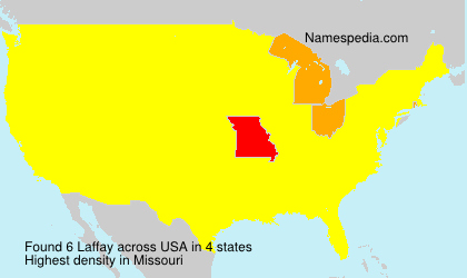 Surname Laffay in USA