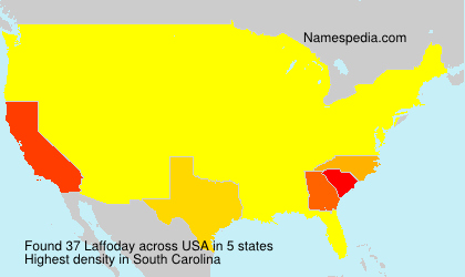 Surname Laffoday in USA