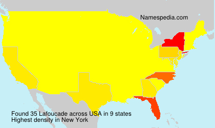 Surname Lafoucade in USA