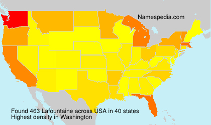 Surname Lafountaine in USA