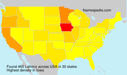 Surname Lafrenz in USA