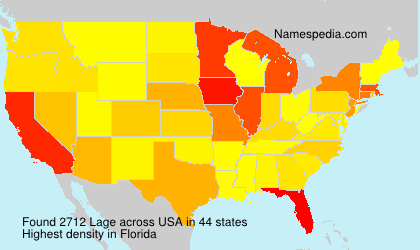Surname Lage in USA