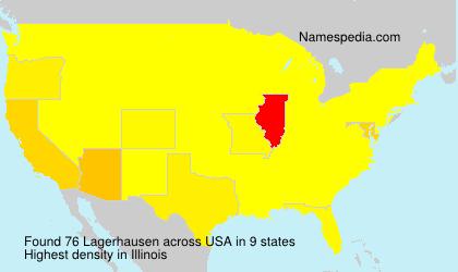 Familiennamen Lagerhausen - USA