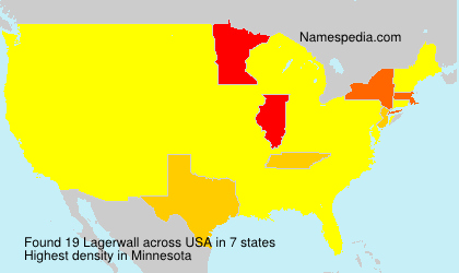 Surname Lagerwall in USA