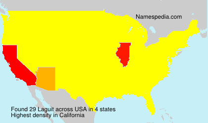 Surname Laguit in USA