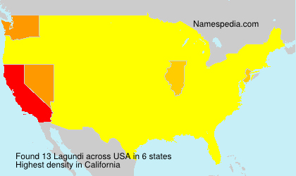 Surname Lagundi in USA