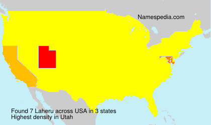 Surname Laheru in USA