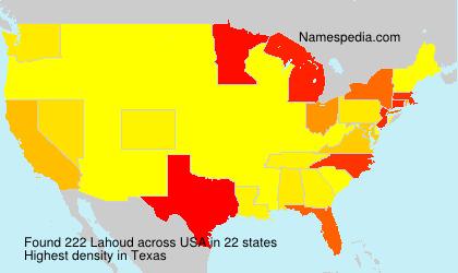 Familiennamen Lahoud - USA