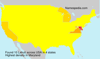 Surname Lahuti in USA