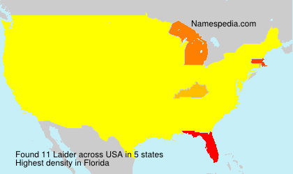 Surname Laider in USA