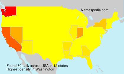 Familiennamen Laik - USA