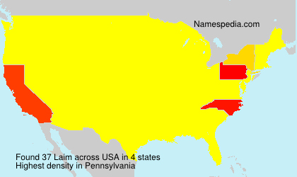 Surname Laim in USA