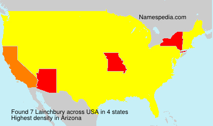 Surname Lainchbury in USA