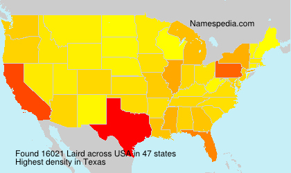 Surname Laird in USA