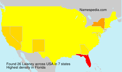 Surname Laisney in USA