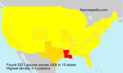 Familiennamen Lajaunie - USA