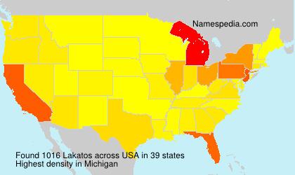 Surname Lakatos in USA