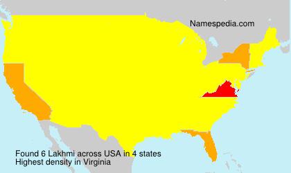 Familiennamen Lakhmi - USA