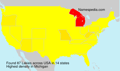 Surname Lakies in USA