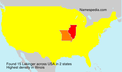 Surname Lakinger in USA