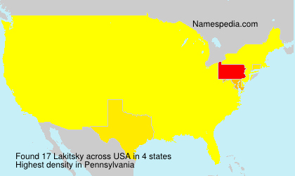 Surname Lakitsky in USA