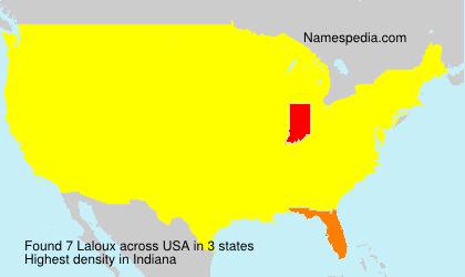 Familiennamen Laloux - USA