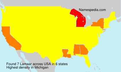 Surname Lamaar in USA