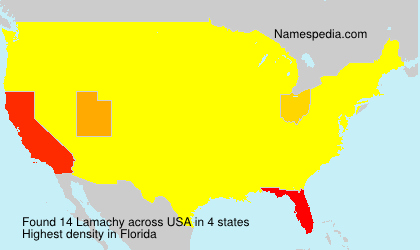 Surname Lamachy in USA