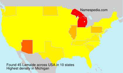 Surname Lamaide in USA