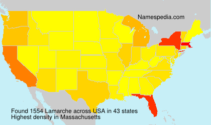 Surname Lamarche in USA
