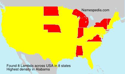 Surname Lambda in USA