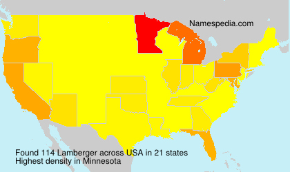 Surname Lamberger in USA