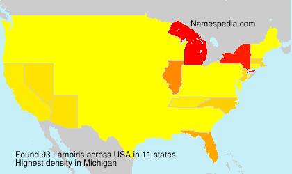 Familiennamen Lambiris - USA