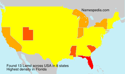 Surname Lamd in USA