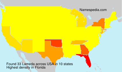 Surname Lameda in USA