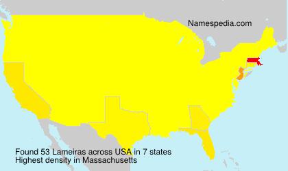 Surname Lameiras in USA