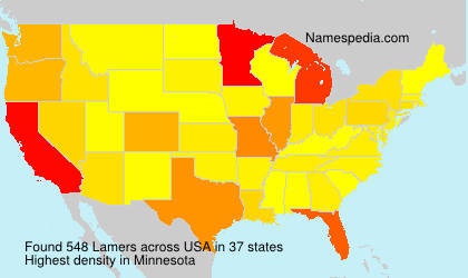 Surname Lamers in USA
