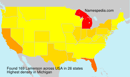 Surname Lamerson in USA