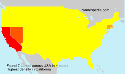 Surname Lamiel in USA
