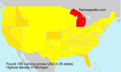Surname Laming in USA