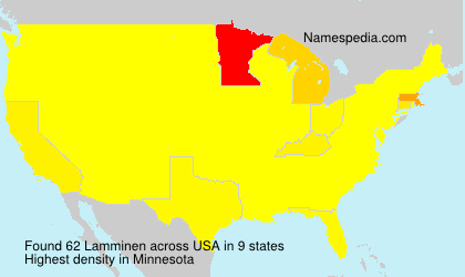 Familiennamen Lamminen - USA