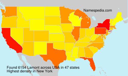 Familiennamen Lamont - USA