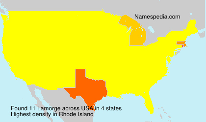 Surname Lamorge in USA