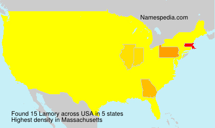 Surname Lamory in USA