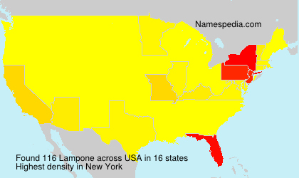 Surname Lampone in USA