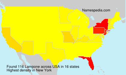 Familiennamen Lampone - USA