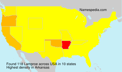 Surname Lamproe in USA