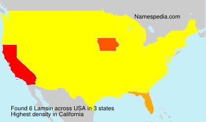 Familiennamen Lamsin - USA