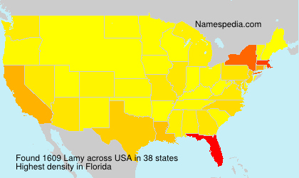 Surname Lamy in USA