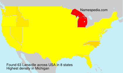 Surname Lanaville in USA